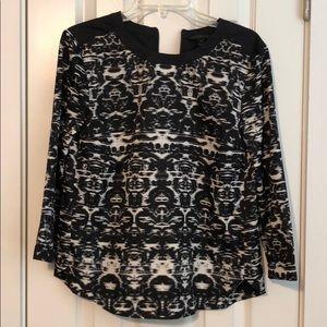 J Crew Ikat print blouse